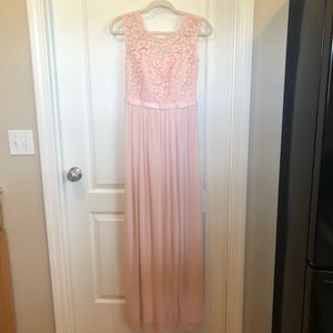 David's Bridal Pink Dress Size 4 Lace and Tulle